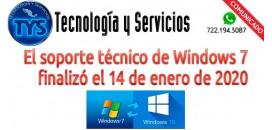 Fin de Soporte Windows 7